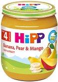 HiPP - Био пюре от банан, круша и манго - Бурканче от 125 g за бебета над 4 месеца - продукт