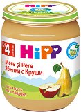 HiPP - Био пюре от ябълки с круши - Бурканче от 125 g за бебета над 4 месеца - продукт