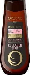 Orzene Beer Collagen Boost Shampoo Flat + Fine Hair - Заздравяващ шампоан за обем за тънка коса - продукт