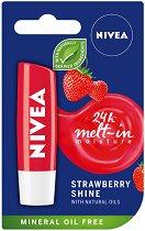 Nivea Strawberry Shine Lip Balm - Балсам за устни с аромат на ягода - шампоан