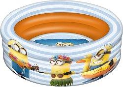 """Надуваем бебешки басейн - Миньоните - С диаметър ∅ 100 cm от серията """"Аз, проклетникът"""" - играчка"""