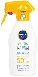 Nivea Sun Kids Sensitive Protect & Care Spray - SPF 50+ - крем