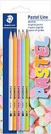 Графитни моливи HB - Pastel Line - Комплект от 5 броя