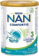 Висококачествена обогатена млечна напитка за малки деца - Nestle NAN Comfortis 3 - Метална кутия от 800 g за след 12 месеца - залъгалка