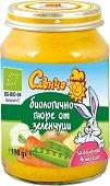 Слънчо - Био пюре от натурални зеленчуци - Бурканче от 190 g за бебета над 4 месеца -