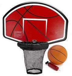 Баскетболен кош за батут - Комплект с топка и помпа -