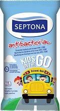 Антибактериални детски мокри кърпички - В опаковки от 15 броя и 4 x 15 броя -