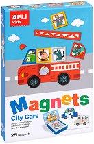 Автомобилите в града - Детски комплект за игра с магнити - аксесоар