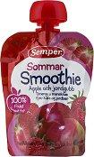 Semper - Смути ябълка и ягода - Опаковка от 90 g за бебета над 6 месеца -