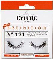 Eylure Definition 121 - Мигли от естествен косъм в комплект с лепило - молив