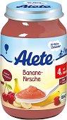 Alete - Био пюре от банан и череша - Бурканче от 190 g за бебета над 4 месеца - продукт