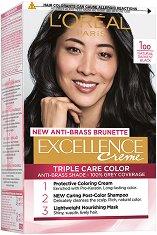 L'Oreal Excellence Creme Triple Care Color - Трайна крем боя за коса - продукт