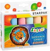 Цветни тебешири - Safari - Комплект от 6 цвята