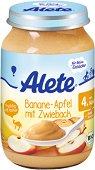 Alete - Био пюре от банан и ябълка със сухар - Бурканче от 190 g за бебета над 4 месеца - продукт