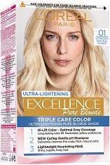 L'Oreal Excellence Pure Blonde Ultra-Lightening - Изрусител за коса - червило