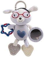 """Плюшено зайче - Blue Heart - Мека играчка за количка или легло от серията """"Love Rome"""" -"""