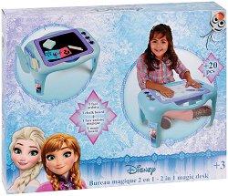 """Маса с  магическа  дъска - 2 в 1 - Комплект от серията """"Замръзналото кралство"""" - творчески комплект"""