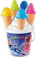 """Комплект за игра с пясък - Сладоледи - От серията """"PJ Masks"""" - пъзел"""