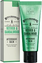 "Scottish Fine Soaps Men's Grooming Vetiver & Sandalwood Aftershave Balm - Балсам за след бръснене от серията ""Men's Grooming"" - продукт"