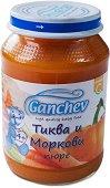 Ganchev - Пюре от тиква и моркови - Бурканче от 190 g за бебета над 4 месеца - пюре