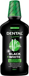 Dental Dream Black & White Mouthwash - Вода за уста с активен въглен - лак
