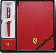 Ролер и тефтер - Ferrari - Комплект от 2 части в подаръчна кутия