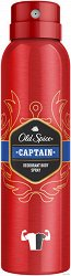 "Old Spice Captain Deodorant Body Spray - Спрей дезодорант за мъже от серията ""Captain"" -"