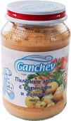 Ganchev - Пюре от пилешко месо с картофи и домати - Бурканче от 190 g за бебета над 4 месеца -