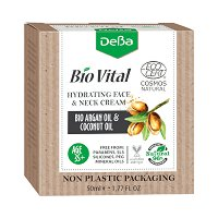 """Натурален хидратиращ крем за лице и шия 35+ - С био масла от арган и кокос от серията """"Bio Vital"""" - шампоан"""