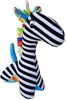 Дрънкалка - Жирафче - Бебешка мека играчка -