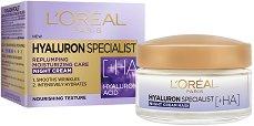 """L'Oreal Hyaluron Specialist Night Cream - Нощен крем за лице с хиалуронова киселина от серията """"Hyaluron Specialist"""" - продукт"""