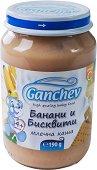 Ganchev - Млечна каша с банани и бисквити - Бурканче от 190 g за бебета над 4 месеца -