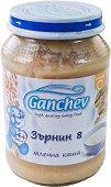 """Ganchev - Млечна каша """"Зърнин 8"""" - Бурканче от 190 g за бебета над 4 месеца - пюре"""