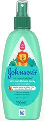 Johnson's Kids No More Tangles Detangling Spray - Спрей балсам за деца за лесно разресване на косата - крем