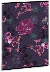 Ученическа тетрадка - Floral Orchidea : Формат А4 с широки редове - 40 листа -