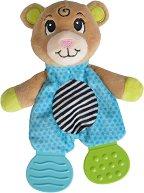 """Мече - Мека бебешка играчка с дрънкалка и дъвкалки от серията """"ABC"""" -"""