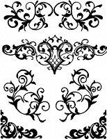 Шаблон - Завъртяни орнаменти - Размер 20 x 25 cm