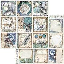 Хартии за скрапбукинг - Нощни животни - Размери 30.5 х 30.5 cm