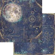 Хартии за скрапбукинг - Луна - Размери 30.5 х 30.5 cm