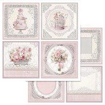 Хартии за скрапбукинг - Сватбен ден - Размери 30.5 х 30.5 cm