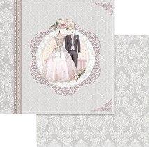 Хартии за скрапбукинг - Сватбени костюми - Размери 30.5 х 30.5 cm