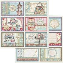 Хартии за скрапбукинг - Цветен дом - Размери 30.5 х 30.5 cm