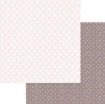 Хартии за скрапбукинг - Орнаменти и сърца - Размери 30.5 х 30.5 cm