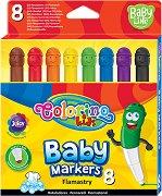 Флумастери - Baby - Комплект от 8 цвята