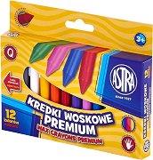 Восъчни пастели - Premium - Комплект от 12, 18 или 24 цвята