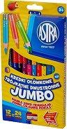 Двустранни цветни моливи - Jumbo - Комплект от 12 броя с 24 цвята