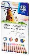 Цветни моливи от кедрово дърво - Prestige - Комплект от 12, 24 или 36 цвята в метална кутия