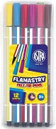 Шестоъгълни флумастери - Комплект от 12 цвята