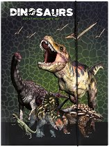 Папка с ластик - Динозаври - Формат A4