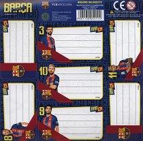 Етикети за тетрадка - Барселона - играчка